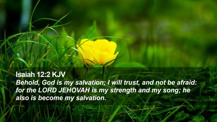 Isaiah 12:2 KJV Desktop Wallpaper - Behold, God is my salvation; I will trust, and - Desktop Bible Verse Wallpaper