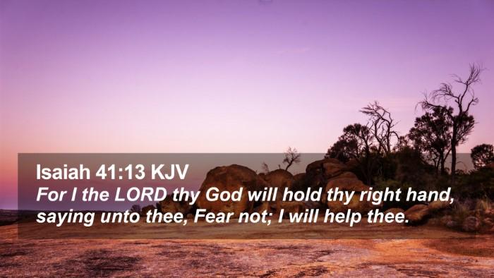 Isaiah 41:13 KJV Desktop Wallpaper - For I the LORD thy God will hold thy right hand, - Desktop Bible Verse Wallpaper