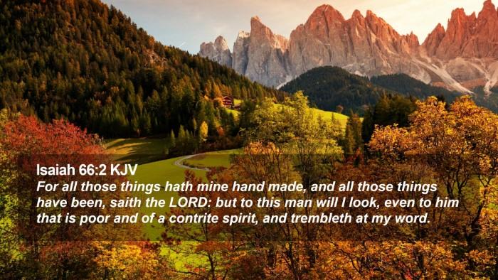 Isaiah 66:2 KJV Desktop Wallpaper - For all those things hath mine hand made, and all - Desktop Bible Verse Wallpaper