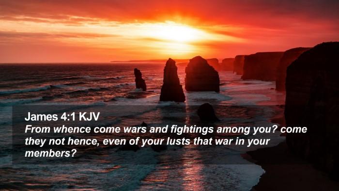 James 4:1 KJV Desktop Wallpaper - From whence come wars and fightings among you? - Desktop Bible Verse Wallpaper