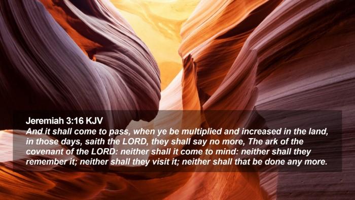 Jeremiah 3:16 KJV Desktop Wallpaper - And it shall come to pass, when ye be multiplied - Desktop Bible Verse Wallpaper