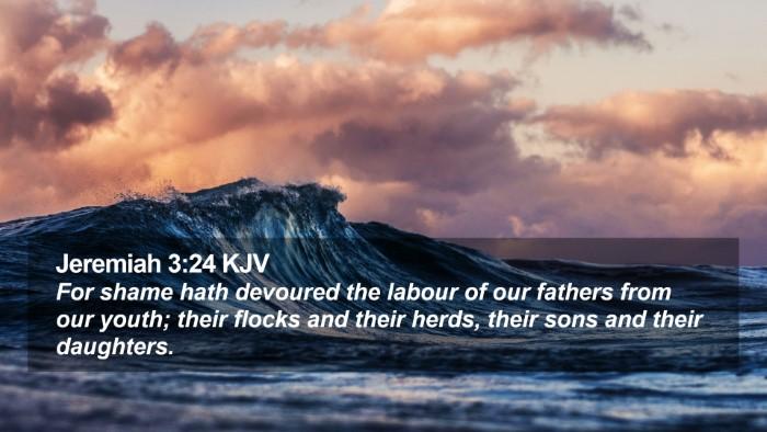Jeremiah 3:24 KJV Desktop Wallpaper - For shame hath devoured the labour of our fathers - Desktop Bible Verse Wallpaper