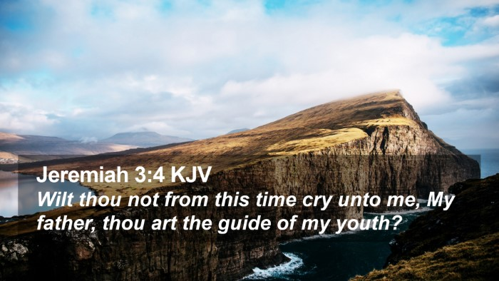Jeremiah 3:4 KJV Desktop Wallpaper - Wilt thou not from this time cry unto me, My - Desktop Bible Verse Wallpaper