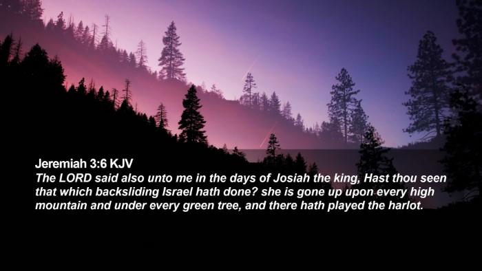 Jeremiah 3:6 KJV Desktop Wallpaper - The LORD said also unto me in the days of Josiah - Desktop Bible Verse Wallpaper