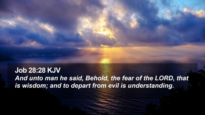 Job 28:28 KJV Desktop Wallpaper - And unto man he said, Behold, the fear of the - Desktop Bible Verse Wallpaper