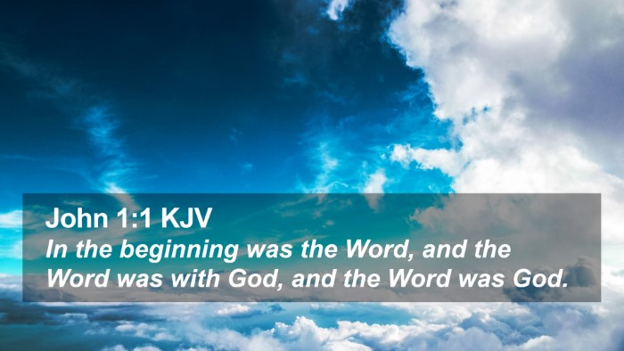 John 1:1 KJV Desktop Wallpaper - In the beginning was the Word, and the Word was - Desktop Bible Verse Wallpaper