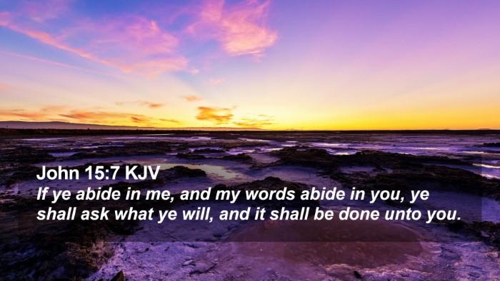 John 15:7 KJV Desktop Wallpaper - If ye abide in me, and my words abide in you, ye - Desktop Bible Verse Wallpaper