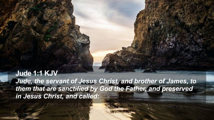 Jude 1:1 KJV Desktop Wallpaper - Jude, the servant of Jesus Christ, and brother of - Desktop Bible Verse Wallpaper