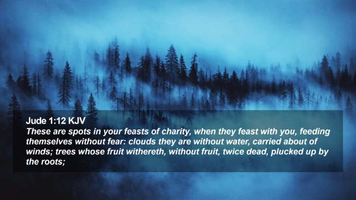 Jude 1:12 KJV Desktop Wallpaper - These are spots in your feasts of charity, when - Desktop Bible Verse Wallpaper