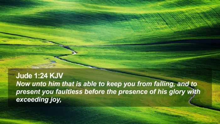 Jude 1:24 KJV Desktop Wallpaper - Now unto him that is able to keep you from - Desktop Bible Verse Wallpaper