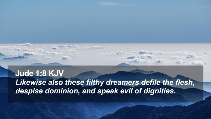 Jude 1:8 KJV Desktop Wallpaper - Likewise also these filthy dreamers defile the - Desktop Bible Verse Wallpaper