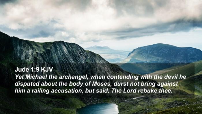 Jude 1:9 KJV Desktop Wallpaper - Yet Michael the archangel, when contending with - Desktop Bible Verse Wallpaper