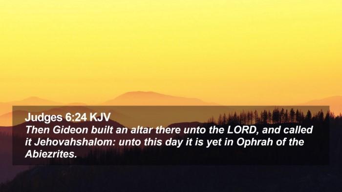 Judges 6:24 KJV Desktop Wallpaper - Then Gideon built an altar there unto the LORD, - Desktop Bible Verse Wallpaper