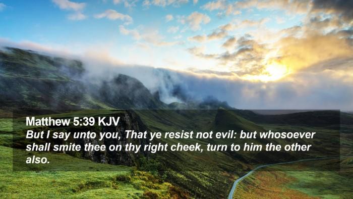 Matthew 5:39 KJV Desktop Wallpaper - But I say unto you, That ye resist not evil: but - Desktop Bible Verse Wallpaper