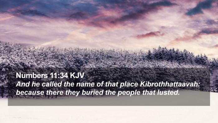 Numbers 11:34 KJV Desktop Wallpaper - And he called the name of that place - Desktop Bible Verse Wallpaper