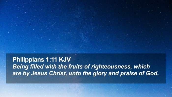 Philippians 1:11 KJV Desktop Wallpaper - Being filled with the fruits of righteousness, - Desktop Bible Verse Wallpaper