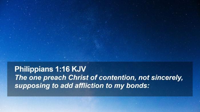 Philippians 1:16 KJV Desktop Wallpaper - The one preach Christ of contention, not - Desktop Bible Verse Wallpaper