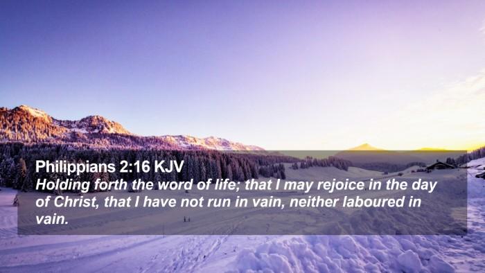 Philippians 2:16 KJV Desktop Wallpaper - Holding forth the word of life; that I may - Desktop Bible Verse Wallpaper