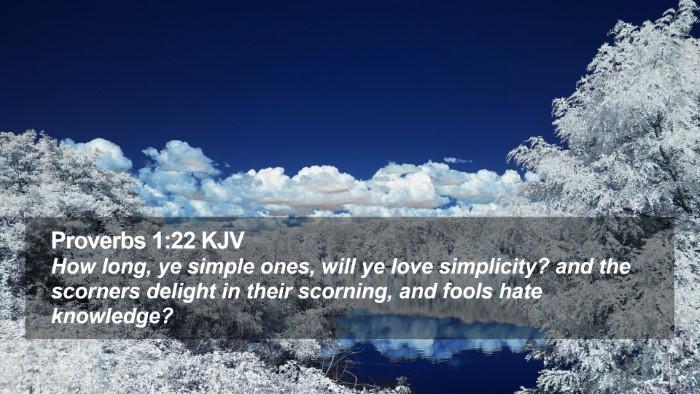 Proverbs 1:22 KJV Desktop Wallpaper - How long, ye simple ones, will ye love - Desktop Bible Verse Wallpaper