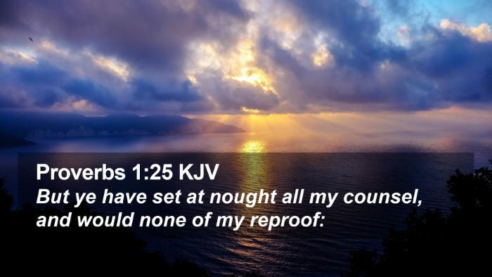 Proverbs 1:25 KJV Desktop Wallpaper - But ye have set at nought all my counsel, and - Desktop Bible Verse Wallpaper