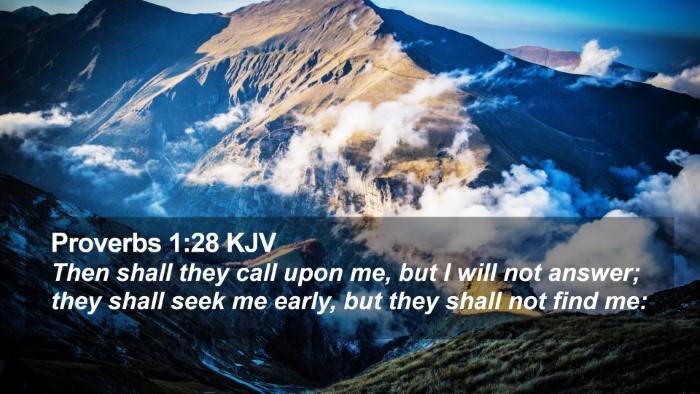 Proverbs 1:28 KJV Desktop Wallpaper - Then shall they call upon me, but I will not - Desktop Bible Verse Wallpaper