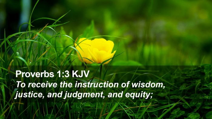 Proverbs 1:3 KJV Desktop Wallpaper - To receive the instruction of wisdom, justice, - Desktop Bible Verse Wallpaper
