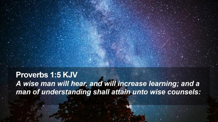 Proverbs 1:5 KJV Desktop Wallpaper - A wise man will hear, and will increase learning; - Desktop Bible Verse Wallpaper