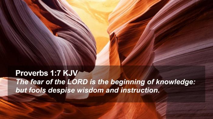 Proverbs 1:7 KJV Desktop Wallpaper - The fear of the LORD is the beginning of - Desktop Bible Verse Wallpaper