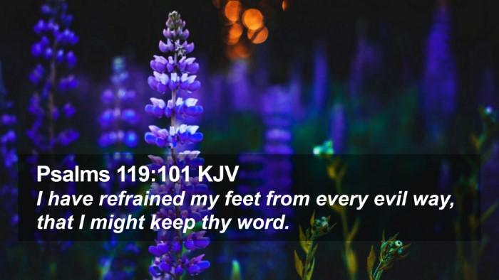 Psalms 119:101 KJV Desktop Wallpaper - I have refrained my feet from every evil way, - Desktop Bible Verse Wallpaper