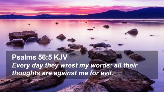 Psalms 56:5 KJV Desktop Wallpaper - Every day they wrest my words: all their thoughts - Desktop Bible Verse Wallpaper