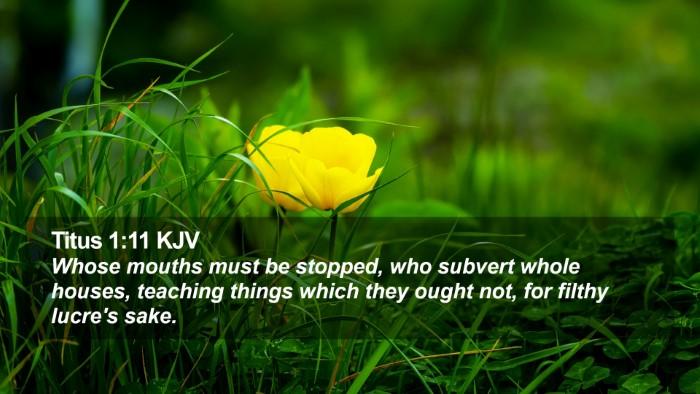 Titus 1:11 KJV Desktop Wallpaper - Whose mouths must be stopped, who subvert whole - Desktop Bible Verse Wallpaper