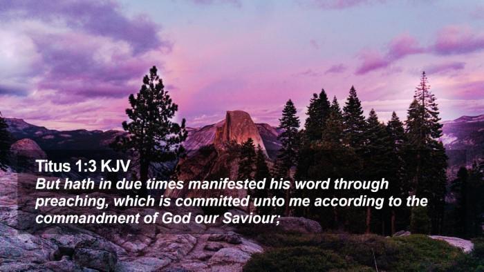 Titus 1:3 KJV Desktop Wallpaper - But hath in due times manifested his word through - Desktop Bible Verse Wallpaper