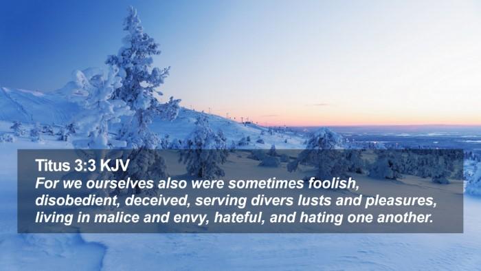 Titus 3:3 KJV Desktop Wallpaper - For we ourselves also were sometimes foolish, - Desktop Bible Verse Wallpaper