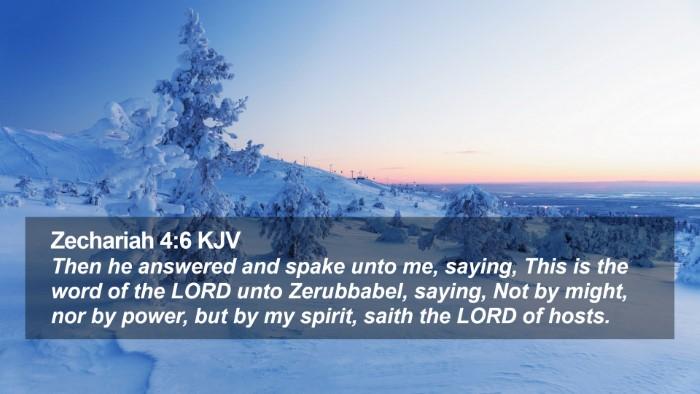 Zechariah 4:6 KJV Desktop Wallpaper - Then he answered and spake unto me, saying, This - Desktop Bible Verse Wallpaper