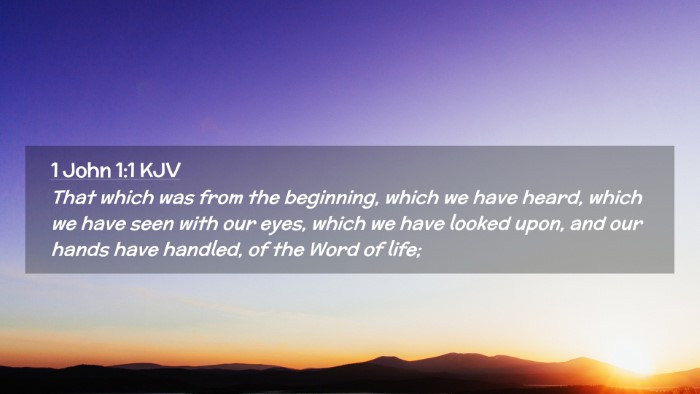 Picture 02 - 1 John 1:1 KJV Desktop Wallpaper - That which was from the beginning, which we have - Desktop Bible Verse Wallpaper