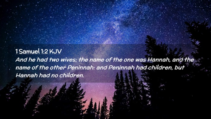 Picture 02 - 1 Samuel 1:2 KJV Desktop Wallpaper - And he had two wives; the name of the one was - Desktop Bible Verse Wallpaper