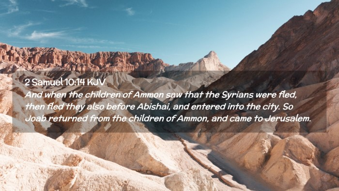 Picture 02 - 2 Samuel 10:14 KJV Desktop Wallpaper - And when the children of Ammon saw that the - Desktop Bible Verse Wallpaper