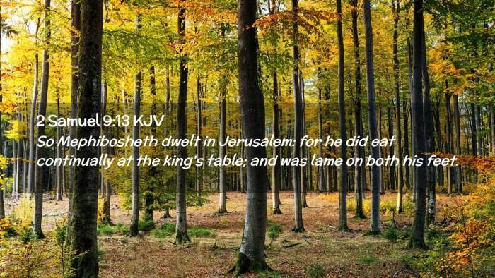 Picture 02 - 2 Samuel 9:13 KJV Desktop Wallpaper - So Mephibosheth dwelt in Jerusalem: for he did - Desktop Bible Verse Wallpaper