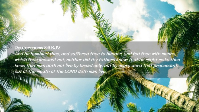 Picture 02 - Deuteronomy 8:3 KJV Desktop Wallpaper - And he humbled thee, and suffered thee to hunger, - Desktop Bible Verse Wallpaper