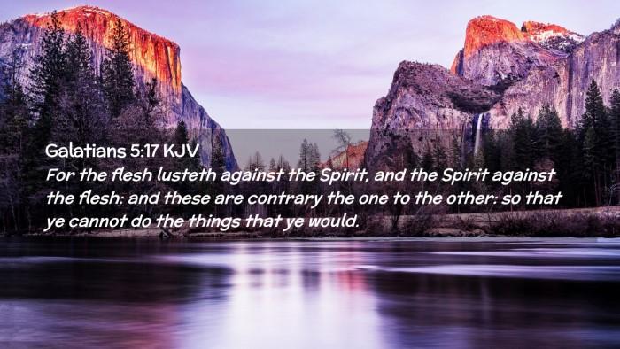 Picture 02 - Galatians 5:17 KJV Desktop Wallpaper - For the flesh lusteth against the Spirit, and the - Desktop Bible Verse Wallpaper