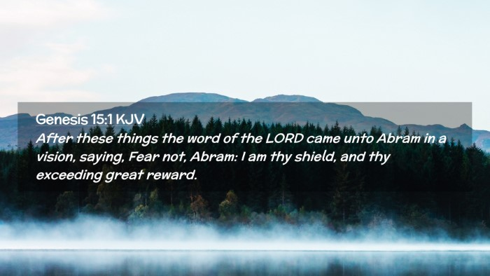Picture 02 - Genesis 15:1 KJV Desktop Wallpaper - After these things the word of the LORD came unto - Desktop Bible Verse Wallpaper