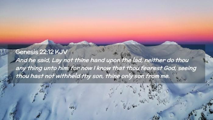 Picture 02 - Genesis 22:12 KJV Desktop Wallpaper - And he said, Lay not thine hand upon the lad, - Desktop Bible Verse Wallpaper