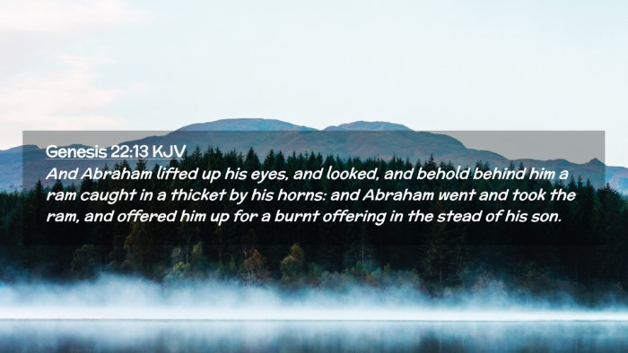 Picture 02 - Genesis 22:13 KJV Desktop Wallpaper - And Abraham lifted up his eyes, and looked, and - Desktop Bible Verse Wallpaper