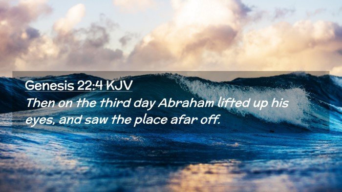 Picture 02 - Genesis 22:4 KJV Desktop Wallpaper - Then on the third day Abraham lifted up his eyes, - Desktop Bible Verse Wallpaper