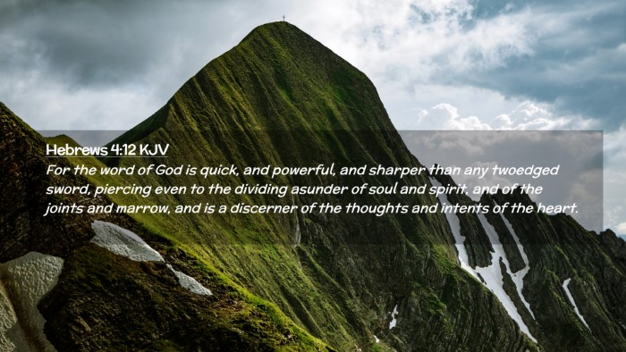 Picture 02 - Hebrews 4:12 KJV Desktop Wallpaper - For the word of God is quick, and powerful, and - Desktop Bible Verse Wallpaper
