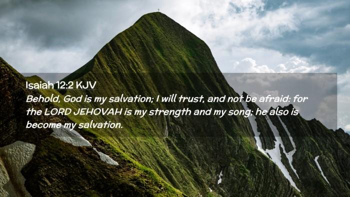 Picture 02 - Isaiah 12:2 KJV Desktop Wallpaper - Behold, God is my salvation; I will trust, and - Desktop Bible Verse Wallpaper