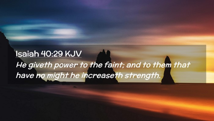 Picture 02 - Isaiah 40:29 KJV Desktop Wallpaper - He giveth power to the faint; and to them that - Desktop Bible Verse Wallpaper