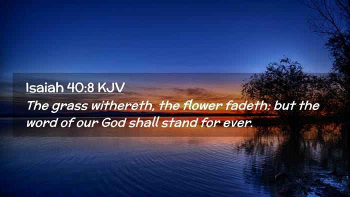 Picture 02 - Isaiah 40:8 KJV Desktop Wallpaper - The grass withereth, the flower fadeth: but the - Desktop Bible Verse Wallpaper