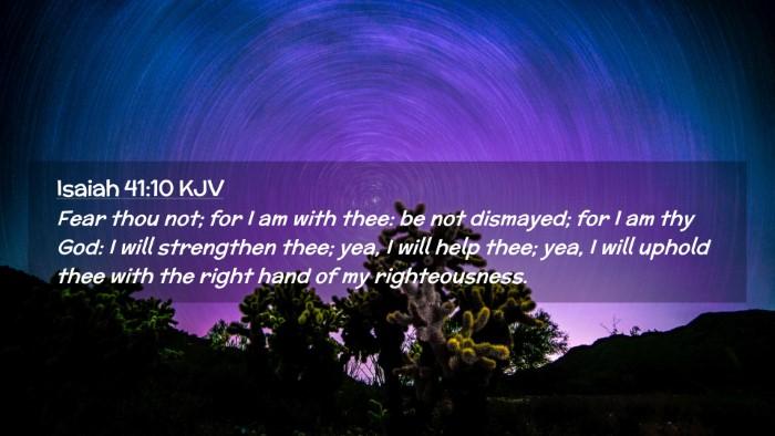 Picture 02 - Isaiah 41:10 KJV Desktop Wallpaper - Fear thou not; for I am with thee: be not - Desktop Bible Verse Wallpaper