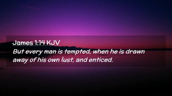 Picture 02 - James 1:14 KJV Desktop Wallpaper - But every man is tempted, when he is drawn away - Desktop Bible Verse Wallpaper